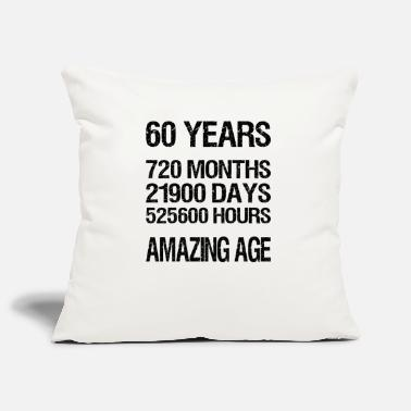 60 Years 60 YEARS - Pillowcase 17,3'' x 17,3'' (45 x 45 cm)