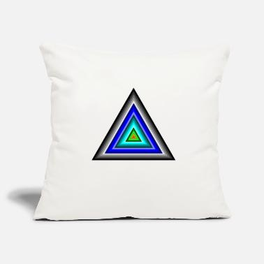 Triangle Triangles in triangle - Pillowcase 17,3'' x 17,3'' (45 x 45 cm)