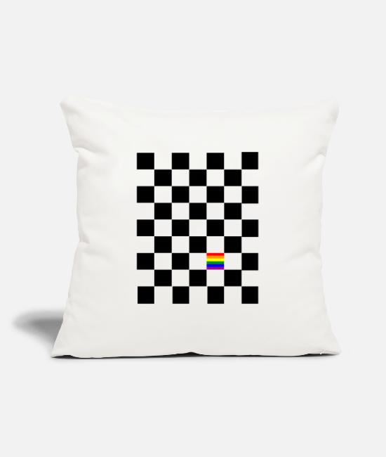 Chess Pillow Cases - Diversity - Pillowcase 17,3'' x 17,3'' (45 x 45 cm) natural white