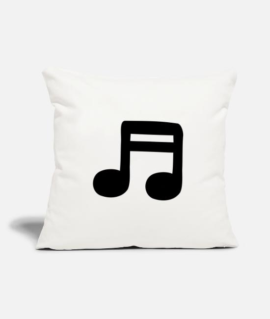 Guitar Pillow Cases - 2 sixteenths - Pillowcase 17,3'' x 17,3'' (45 x 45 cm) natural white