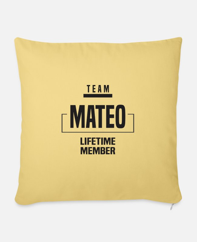 Mateo Pillow Cases - Mateo - Pillowcase 17,3'' x 17,3'' (45 x 45 cm) washed yellow