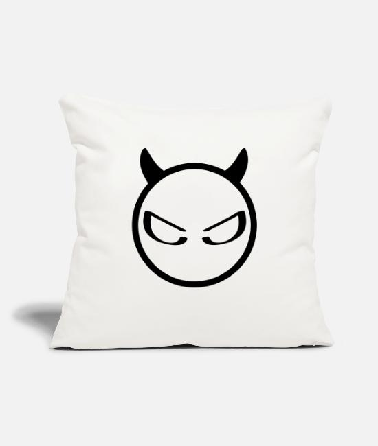 Anger Pillow Cases - evil - Pillowcase 17,3'' x 17,3'' (45 x 45 cm) natural white