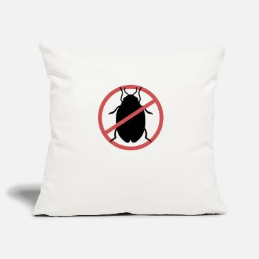 Travel Bug No Bed Bugs | Bed bugs banned bed bug travel - Pillowcase 17,3'' x 17,3'' (45 x 45 cm)