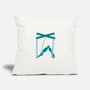 Teal Yoga Puppet Teal - Pillowcase 17,3'' x 17,3'' (45 x 45 cm)