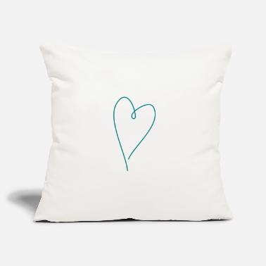 Teal Heart teal - Pillowcase 17,3'' x 17,3'' (45 x 45 cm)