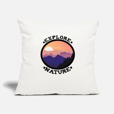 Wanderlust Gift for nature lovers hiking climbing forest - Pillowcase 17,3'' x 17,3'' (45 x 45 cm)