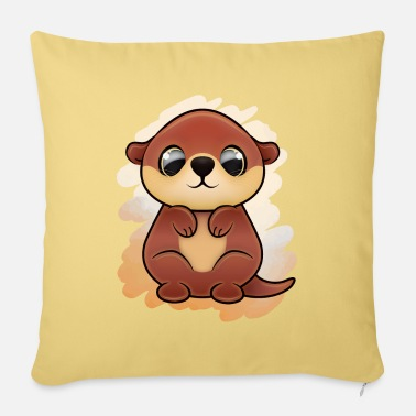 Otter (kawaii) - Pillowcase 17,3'' x 17,3'' (45 x 45 cm)