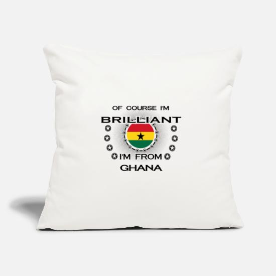 Love Pillow Cases - I AM GENIUS BRILLIANT CLEVER GHANA - Pillowcase 17,3'' x 17,3'' (45 x 45 cm) natural white