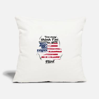 Flint THERAPY HOLIDAY AMERICA USA TRAVEL Flint - Pillowcase 17,3'' x 17,3'' (45 x 45 cm)