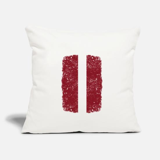 Love Pillow Cases - roots home country roots home Latvia - Pillowcase 17,3'' x 17,3'' (45 x 45 cm) natural white