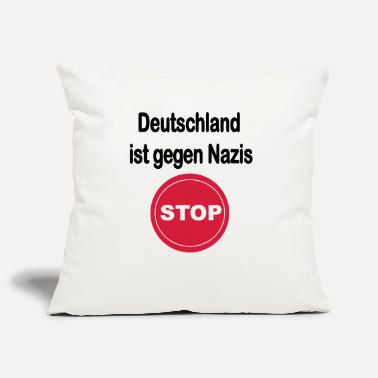 Anti Nazis Germany against Nazis. Anti Nazi design - Pillowcase 17,3'' x 17,3'' (45 x 45 cm)