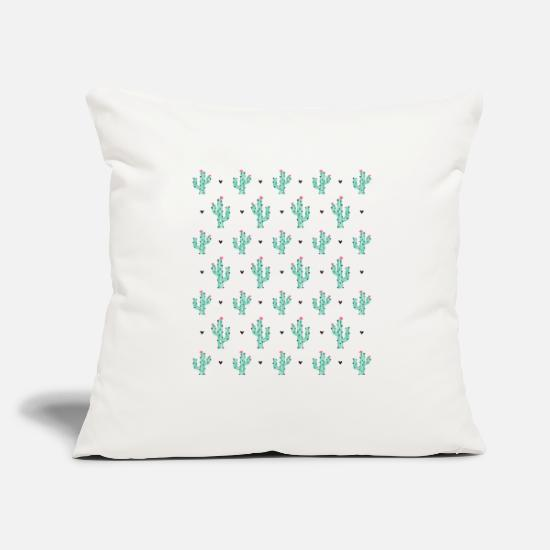 Nature Pillow Cases - Cactus as a pattern - Pillowcase 17,3'' x 17,3'' (45 x 45 cm) natural white