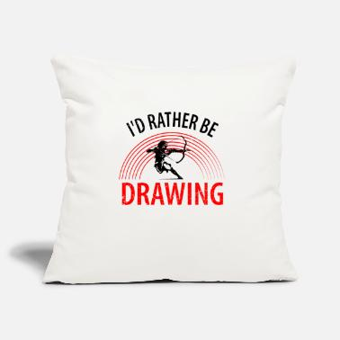 Target I'd rather be drawing - Pillowcase 17,3'' x 17,3'' (45 x 45 cm)