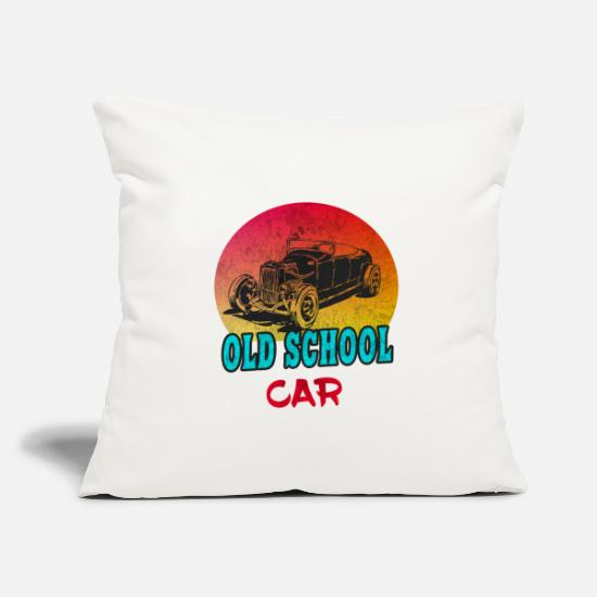 Car Pillow Cases - Old School Car Vintage / Gift Vintage Car - Pillowcase 17,3'' x 17,3'' (45 x 45 cm) natural white