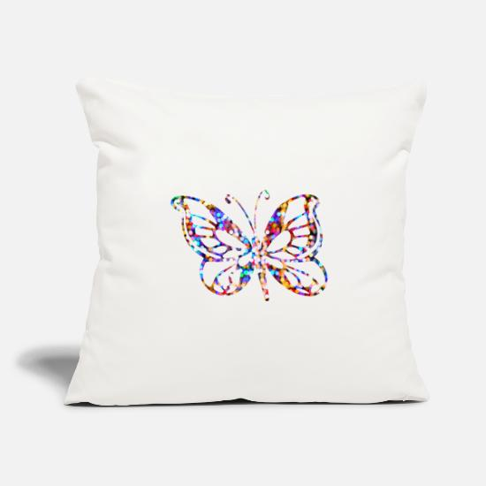 Gift Idea Pillow Cases - Butterfly gifts butterfly butterflies - Pillowcase 17,3'' x 17,3'' (45 x 45 cm) natural white