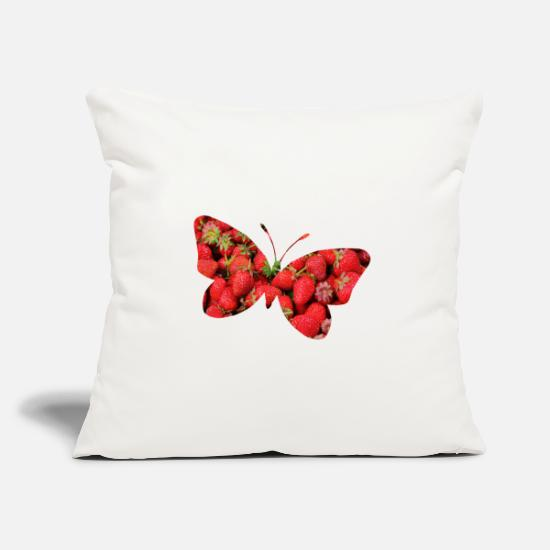 Butterfly Pillow Cases - Butterfly gifts butterfly butterflies - Pillowcase 17,3'' x 17,3'' (45 x 45 cm) natural white