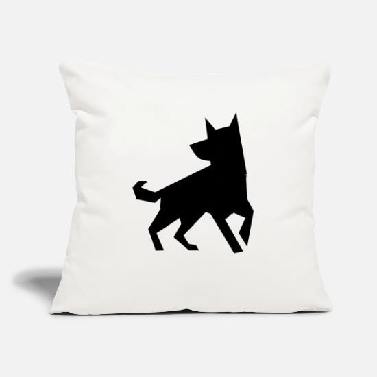 Hipster Pillow Cases - sharp standing puppy - Pillowcase 17,3'' x 17,3'' (45 x 45 cm) natural white