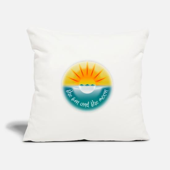 Tanning Pillow Cases - Sun and moon. The sun and the moon. - Pillowcase 17,3'' x 17,3'' (45 x 45 cm) natural white