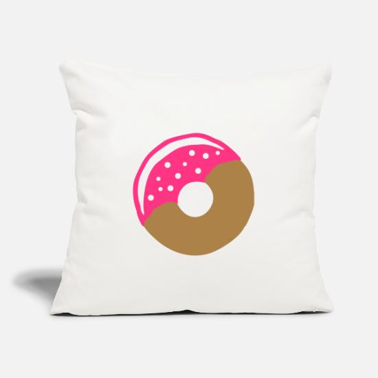 Pastries Pillow Cases - Donut with frosting - Pillowcase 17,3'' x 17,3'' (45 x 45 cm) natural white