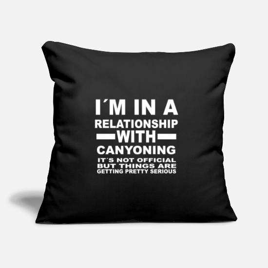 Love Pillow Cases - relationship with CANYONING - Pillowcase 17,3'' x 17,3'' (45 x 45 cm) black