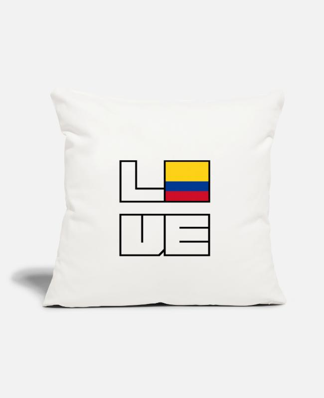 EU Pillow Cases - Love home roots Roots Colombia - Pillowcase 17,3'' x 17,3'' (45 x 45 cm) natural white