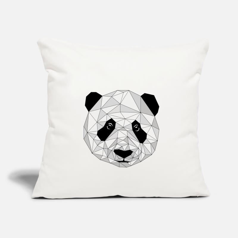 Bestsellers Q4 2018 Pillow cases - Graphic panda - Pillowcase 17,3'' x 17,3'' (45 x 45 cm) natural white
