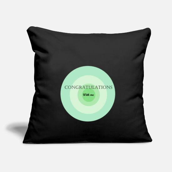 Birthday Pillow Cases - congratulations with me - Pillowcase 17,3'' x 17,3'' (45 x 45 cm) black