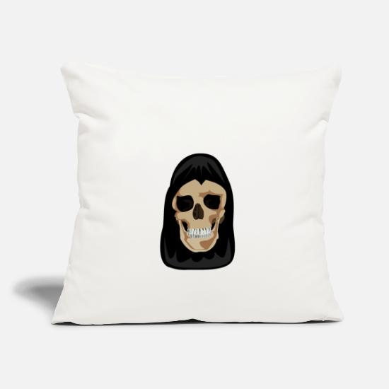 Pirate Skull Pillow Cases - Skull in the Cape - Pillowcase 17,3'' x 17,3'' (45 x 45 cm) natural white