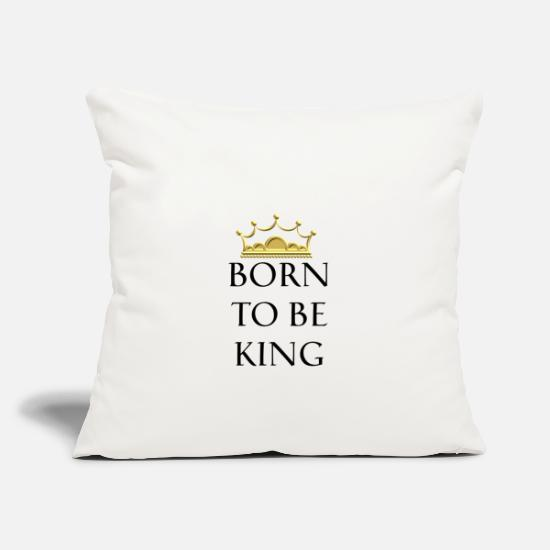 King Queen Pillow Cases - Born to be Queen - Born to the King - Pillowcase 17,3'' x 17,3'' (45 x 45 cm) natural white