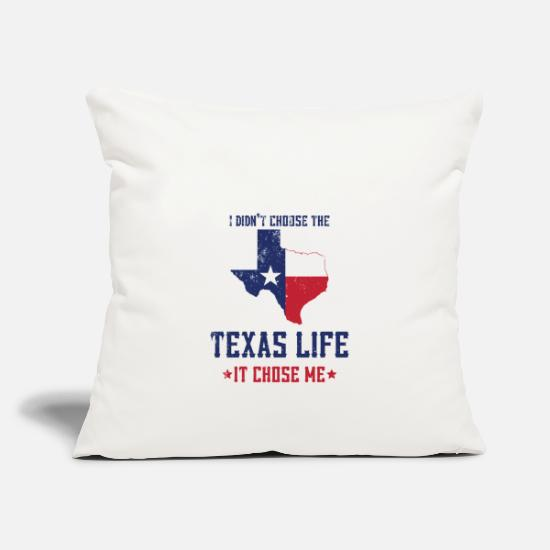 Southern Pillow Cases - Texas America Southern States - Pillowcase 17,3'' x 17,3'' (45 x 45 cm) natural white