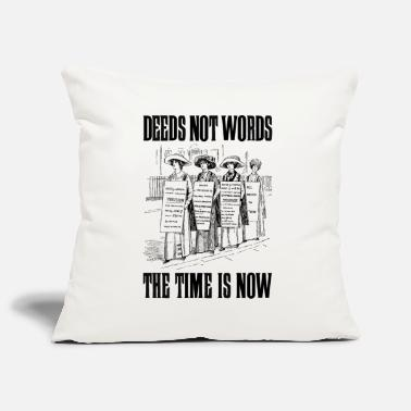 Suffragette Deeds not words - Pillowcase 17,3'' x 17,3'' (45 x 45 cm)