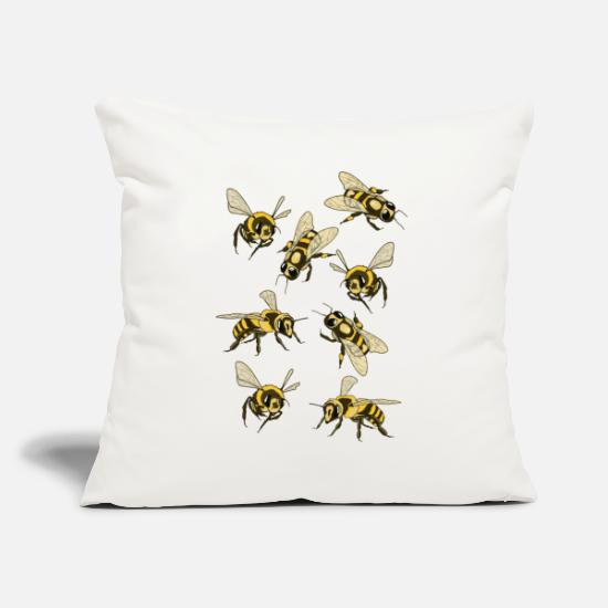 Bees Pillow Cases - bees - Pillowcase 17,3'' x 17,3'' (45 x 45 cm) natural white