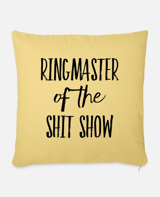 Spoke Genie Pillow Cases - Ringmaster of the Shit Show - Pillowcase 17,3'' x 17,3'' (45 x 45 cm) washed yellow