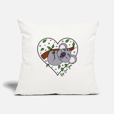 Heart Koala Eucalyptus Heart Love Saying Koa-Love You - Pillowcase 17,3'' x 17,3'' (45 x 45 cm)