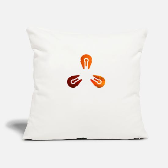 Love Pillow Cases - Triple Space Ship Evening Sun - Space and SciFi - Pillowcase 17,3'' x 17,3'' (45 x 45 cm) natural white