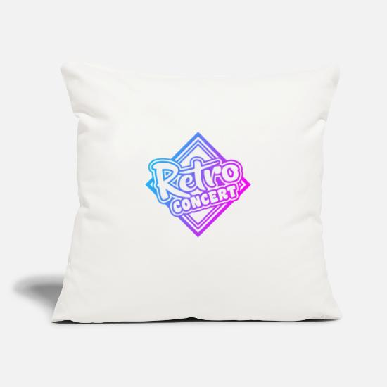 Style Of Music Pillow Cases - Retro concert - Pillowcase 17,3'' x 17,3'' (45 x 45 cm) natural white
