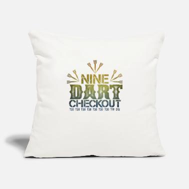 Checkout Nine Darts Checkout make 9 perfect darts - Pillowcase 17,3'' x 17,3'' (45 x 45 cm)