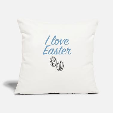 Easter Bunny I love Easter Easter Eggs - Pillowcase 17,3'' x 17,3'' (45 x 45 cm)