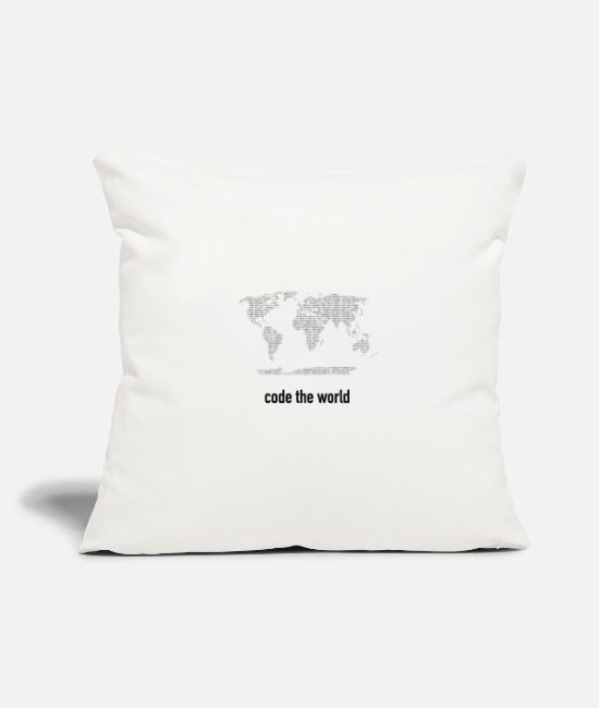 Programmemer Pillow Cases - Code the world computer science gift - Pillowcase 17,3'' x 17,3'' (45 x 45 cm) natural white