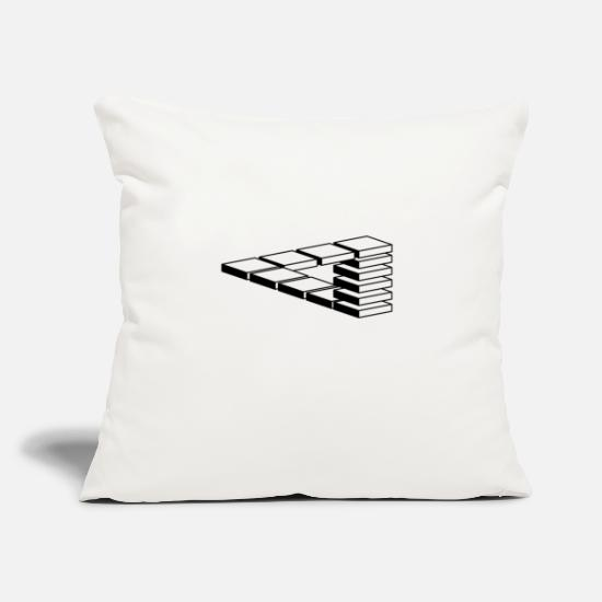 Optical Illusion Pillow Cases - Optical illusion - Pillowcase 17,3'' x 17,3'' (45 x 45 cm) natural white