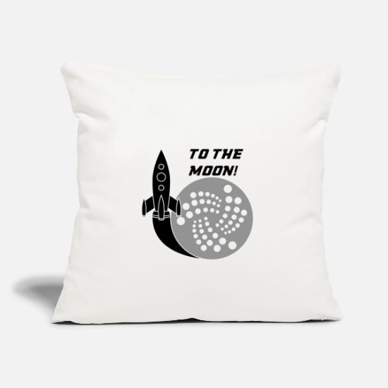 Space Pillow Cases - To The Moon - Astronaut Space Ships UFO Rocket - Pillowcase 17,3'' x 17,3'' (45 x 45 cm) natural white