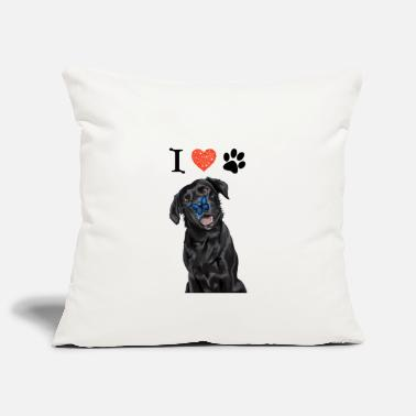 Paw I love my Labrador - Pillowcase 17,3'' x 17,3'' (45 x 45 cm)