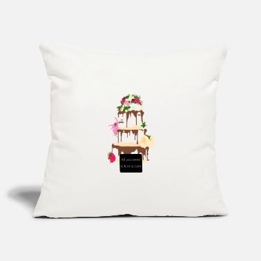 wedding cake - Pillowcase 17,3'' x 17,3'' (45 x 45 cm)