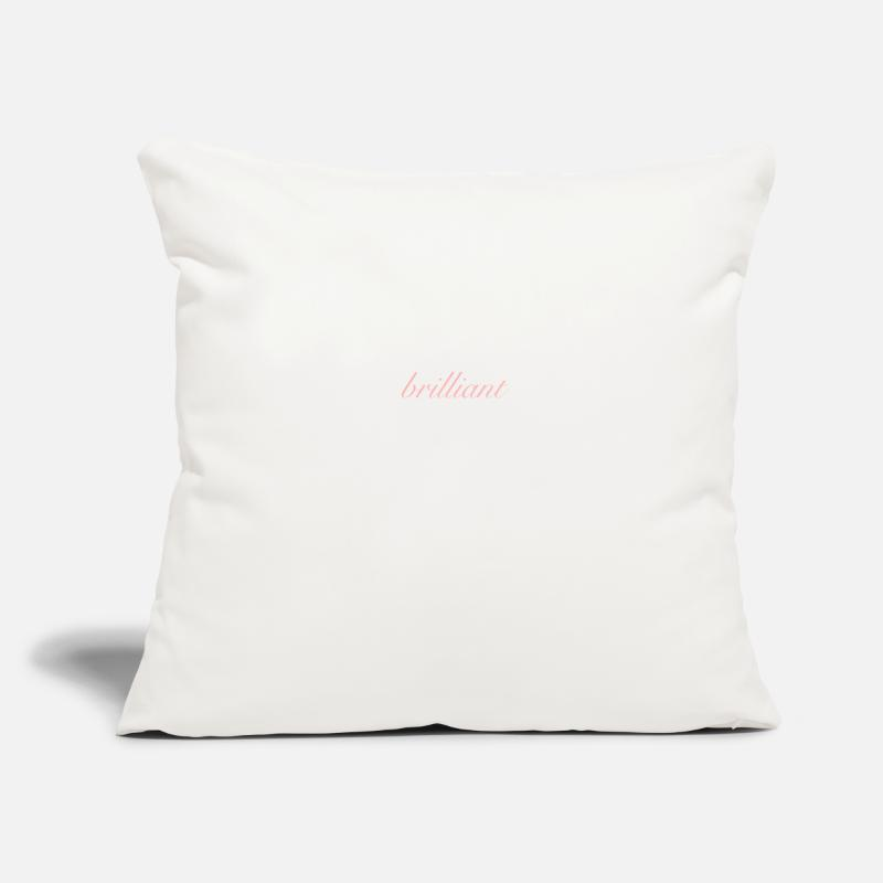 Genius Pillow Cases - brilliant - Pillowcase 17,3'' x 17,3'' (45 x 45 cm) natural white