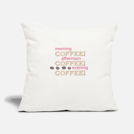 Coffee Bean Pillow Cases - Coffee coffee coffee - Pillowcase 17,3'' x 17,3'' (45 x 45 cm) natural white