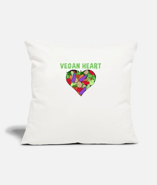 Heart Pillow Cases - Greenrebel Vegan Heart Gift Heart Veggie - Pillowcase 17,3'' x 17,3'' (45 x 45 cm) natural white
