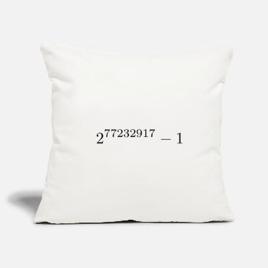 Known biggest prime known - Pillowcase 17,3'' x 17,3'' (45 x 45 cm)