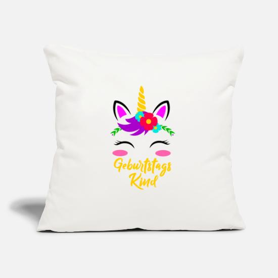 Birthday Girl Pillow Cases - Birthday Girl Unicorn Birthday Gift - Pillowcase 17,3'' x 17,3'' (45 x 45 cm) natural white