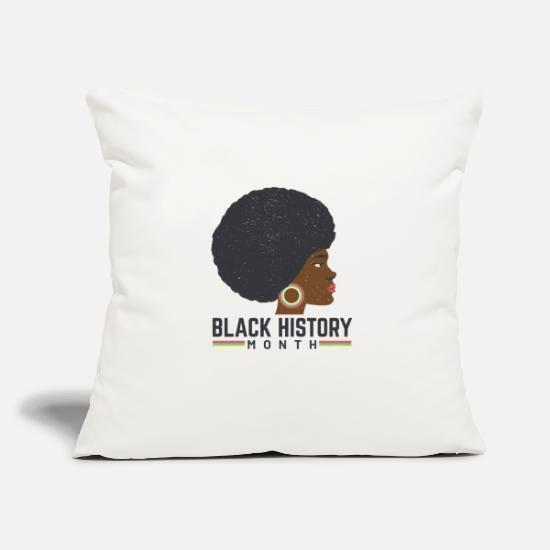 Black History Month Pillow Cases - black history month - Pillowcase 17,3'' x 17,3'' (45 x 45 cm) natural white