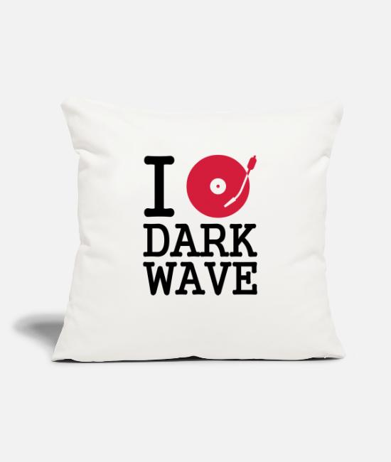 Wave Pillow Cases - I dj / play / listen to dark wave - Pillowcase 17,3'' x 17,3'' (45 x 45 cm) natural white